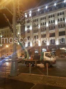 Автовышка в центре Москвы