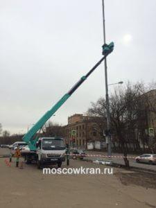 Работа автовышки в Москве