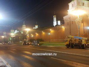 Ночные работы Moscowkran