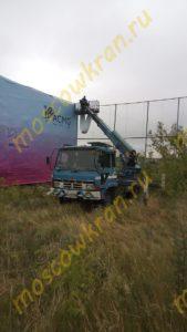 Телескопическая автовышка 22 м