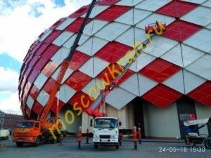 Работа нашей автовышки на стадионе Лужники