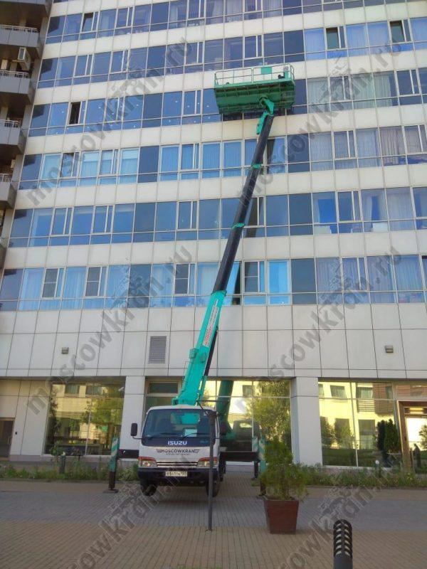 Автовышка балкон 4х2 метра. Грузоподъемность 1000 кг. Раскладная люлька. Москва и МО